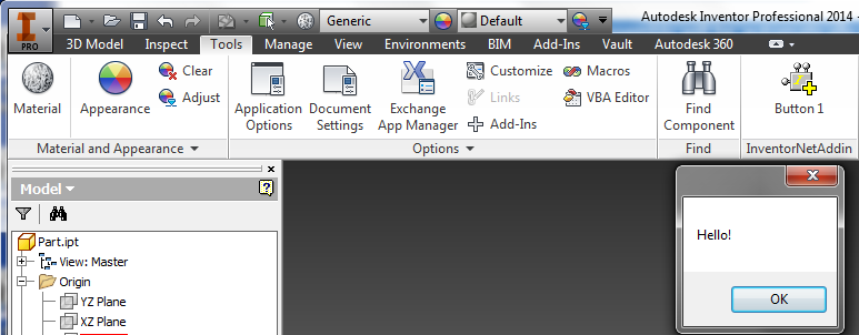 Generate Inventor 2014 VB NET Addin Project Using Inventor